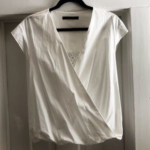 Zara blouse with intricate back cut-out, size XS